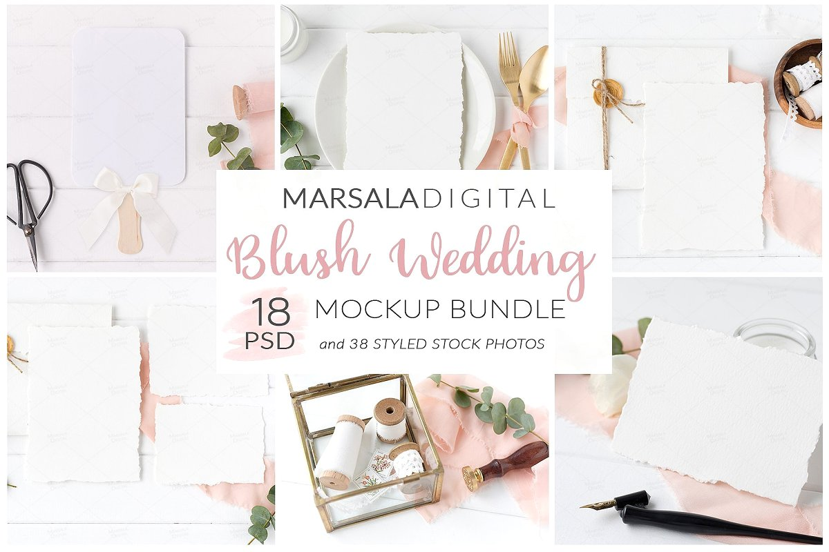 Wedding Mockup Bundle 400 Massive Wedding Mockups Bundle example image 7