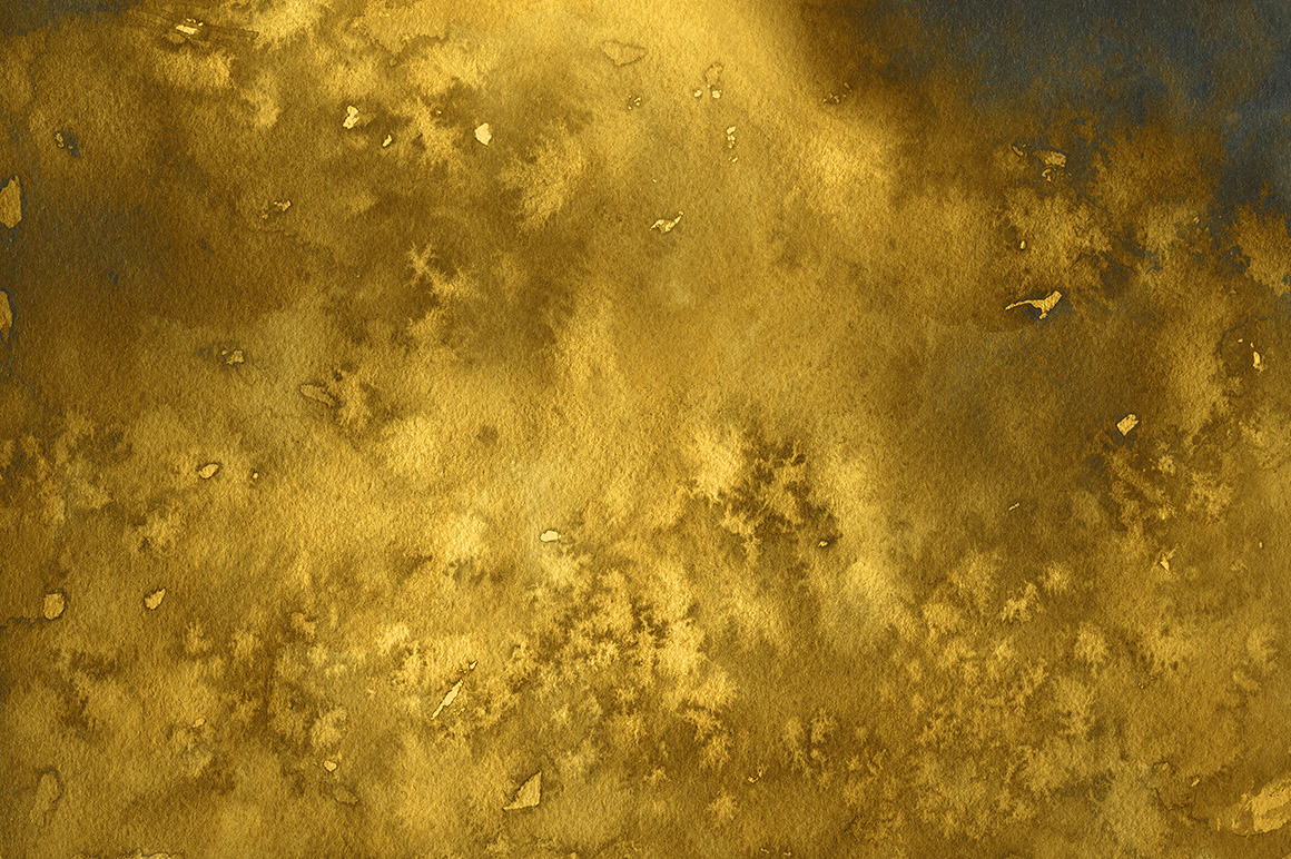 Golden Watercolor & Ink Backgrounds example image 4