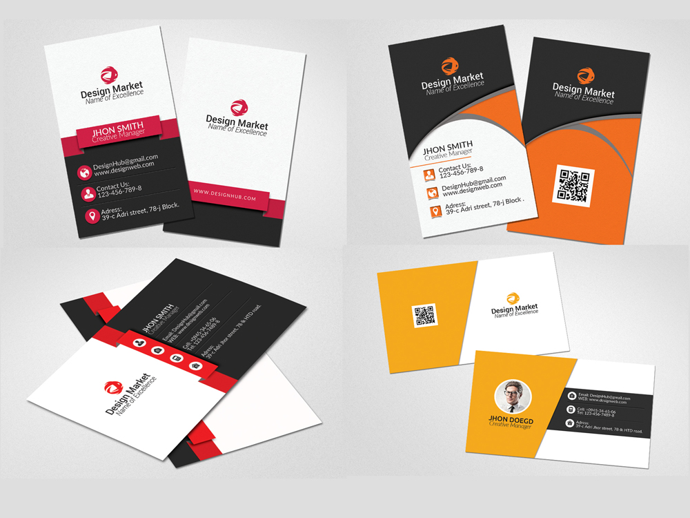 20 Vertical & Horizontal Business Cards Bundle example image 3