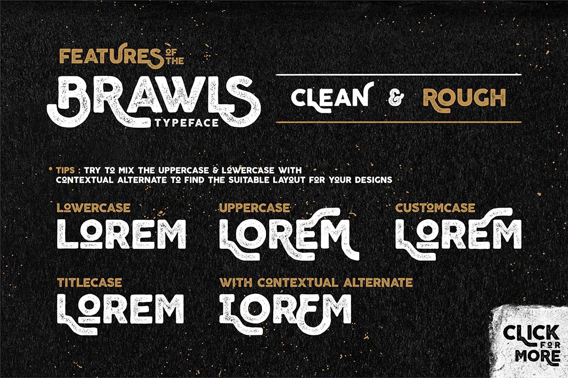 Brawls Typeface  Bonus example image 2