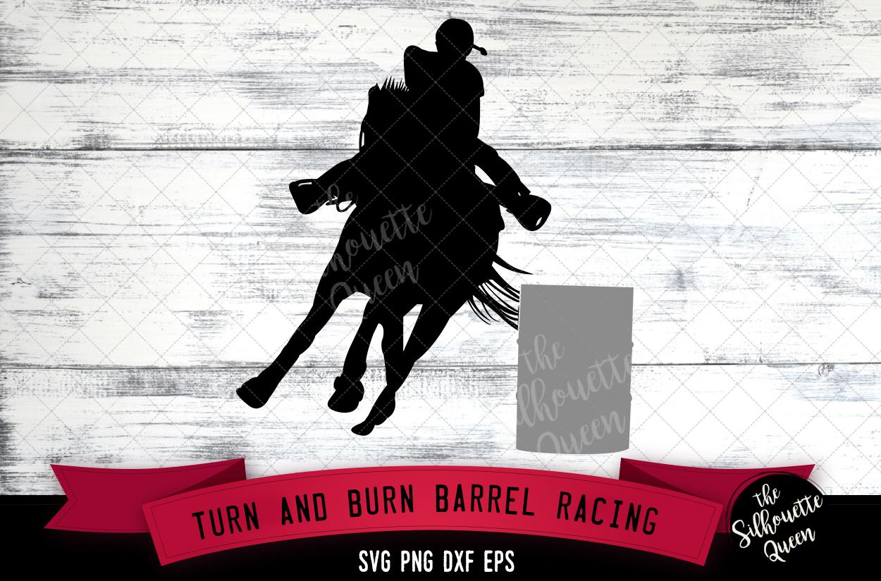 Turn and Burn Barrel Racing svg file example image 1