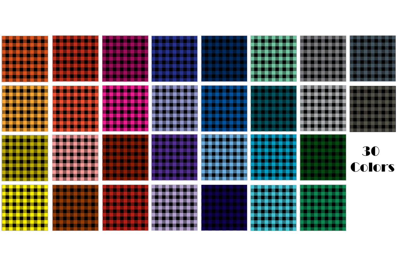 Buffalo Plaid Digital Paper - Buffalo Check Plaid Patterns example image 2