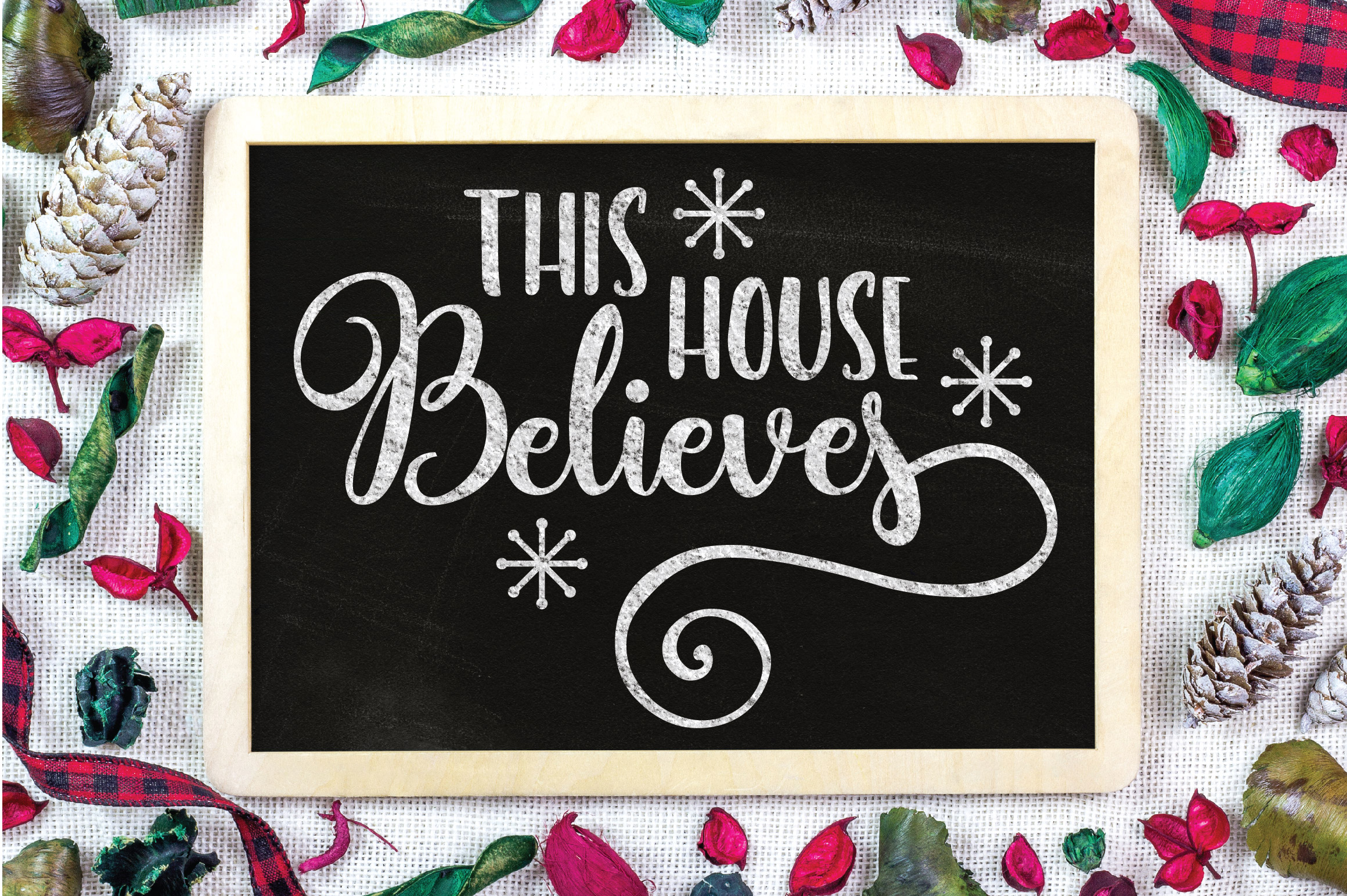 Christmas SVG Cut File - This House Believes SVG DXF PNG EPS example image 6