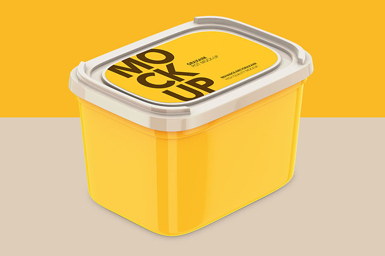 Plastic Container - With Paper Label example image 1