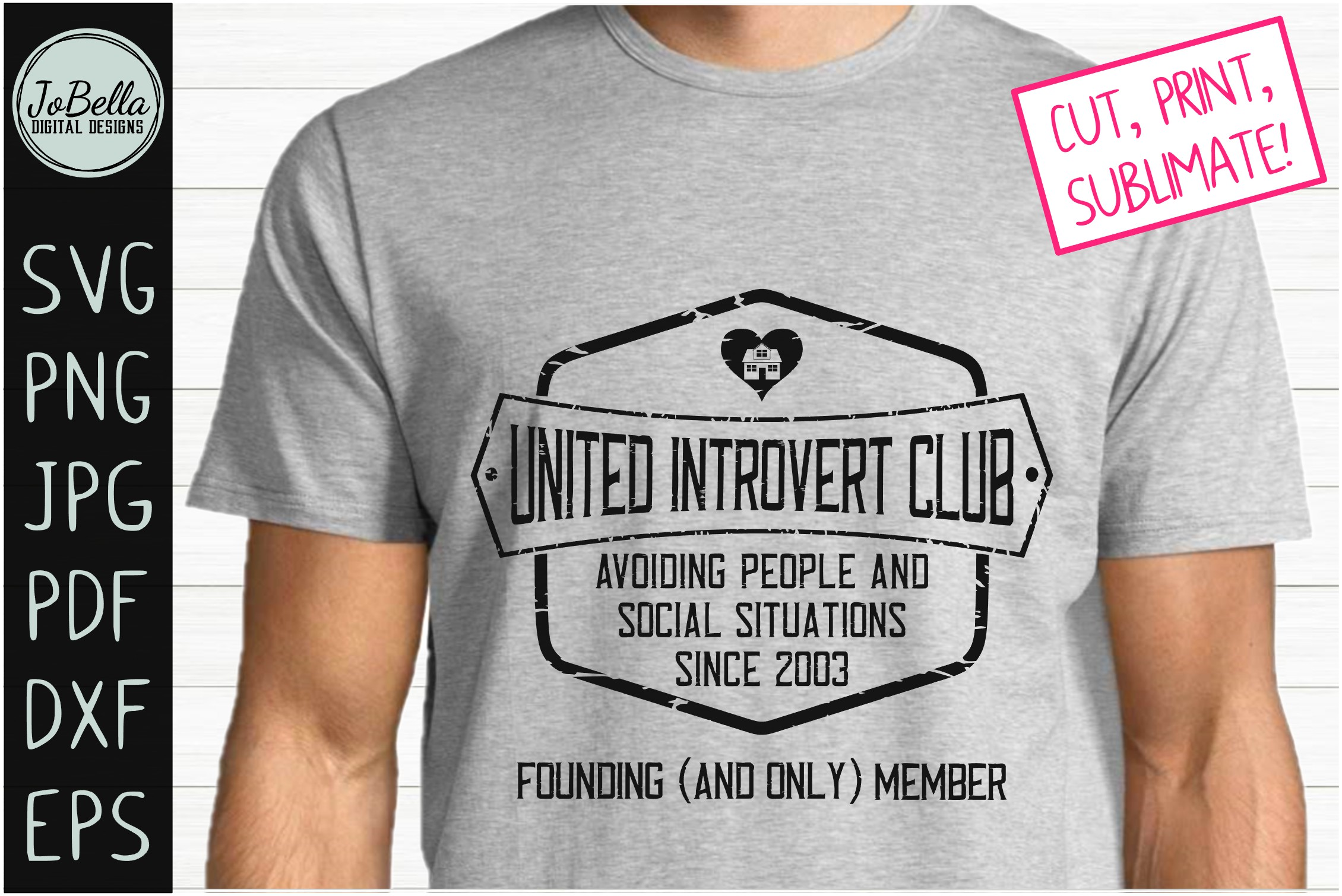 Sarcastic Intovert SVG, Sublimation PNG and Printable example image 1