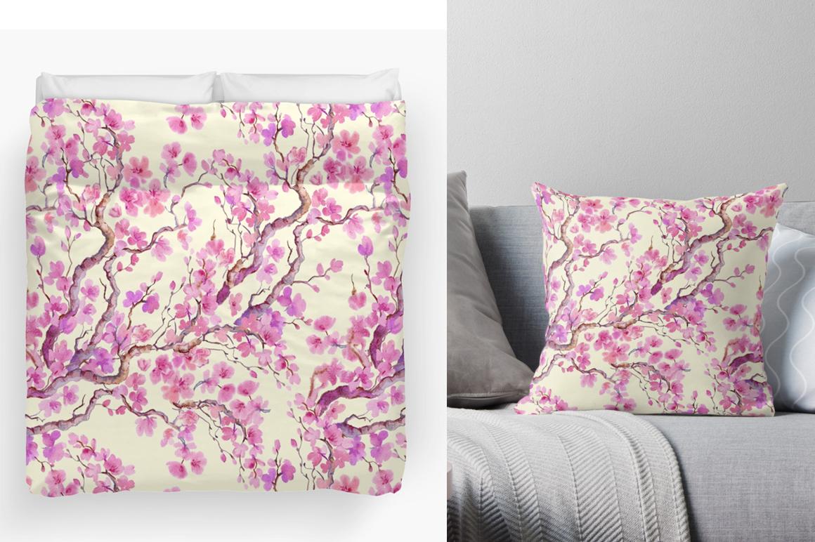 Sakura .seamless pattern.floral pattern example image 5