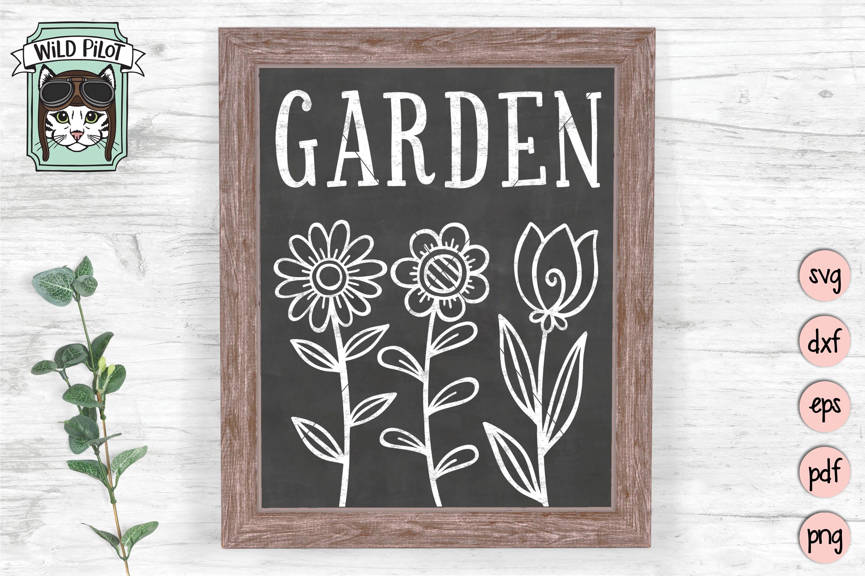 Garden SVG file, Garden Sign, Flower Garden, Spring example image 2