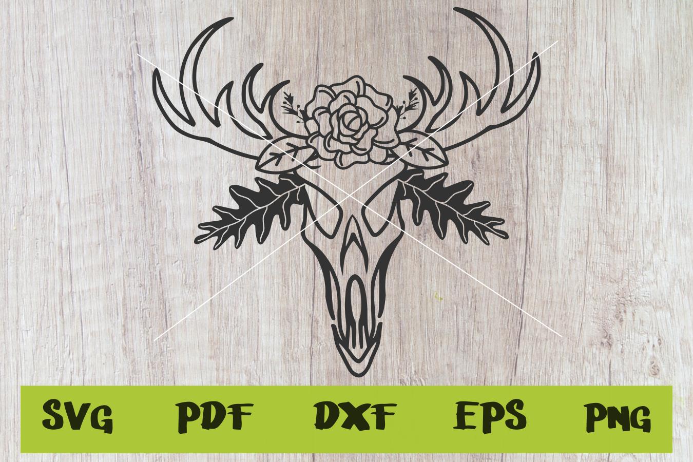 Skull svg , Deer skull svg, instant download, cut file. example image 1