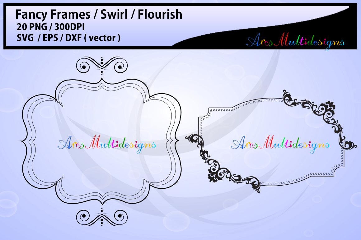 Fancy frames SVG/ fancy labels SVG / frames EPS/ borders / label digital set / borders / backgrounds / frames cut file / empty label frame example image 2