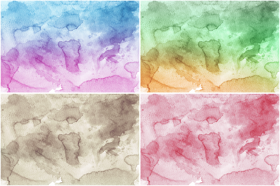 50 Watercolor Backgrounds 02 example image 7