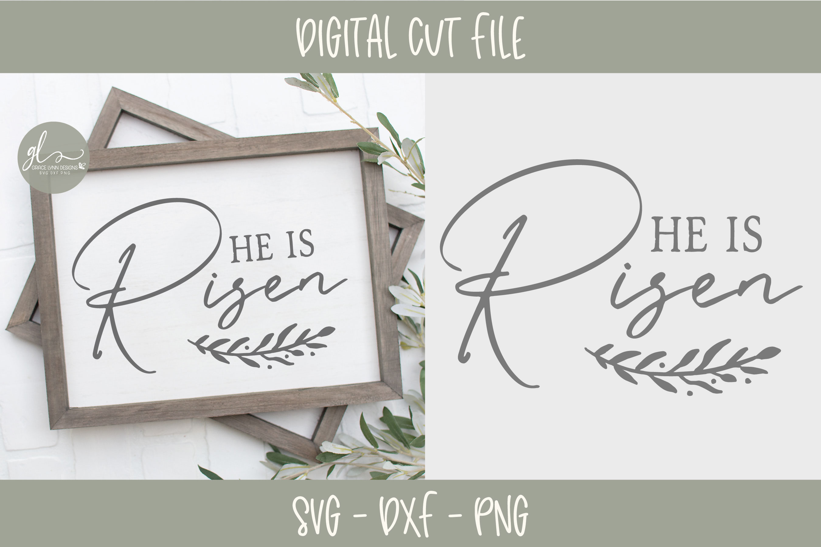 He Is Risen - Easter SVG Cut File example image 1