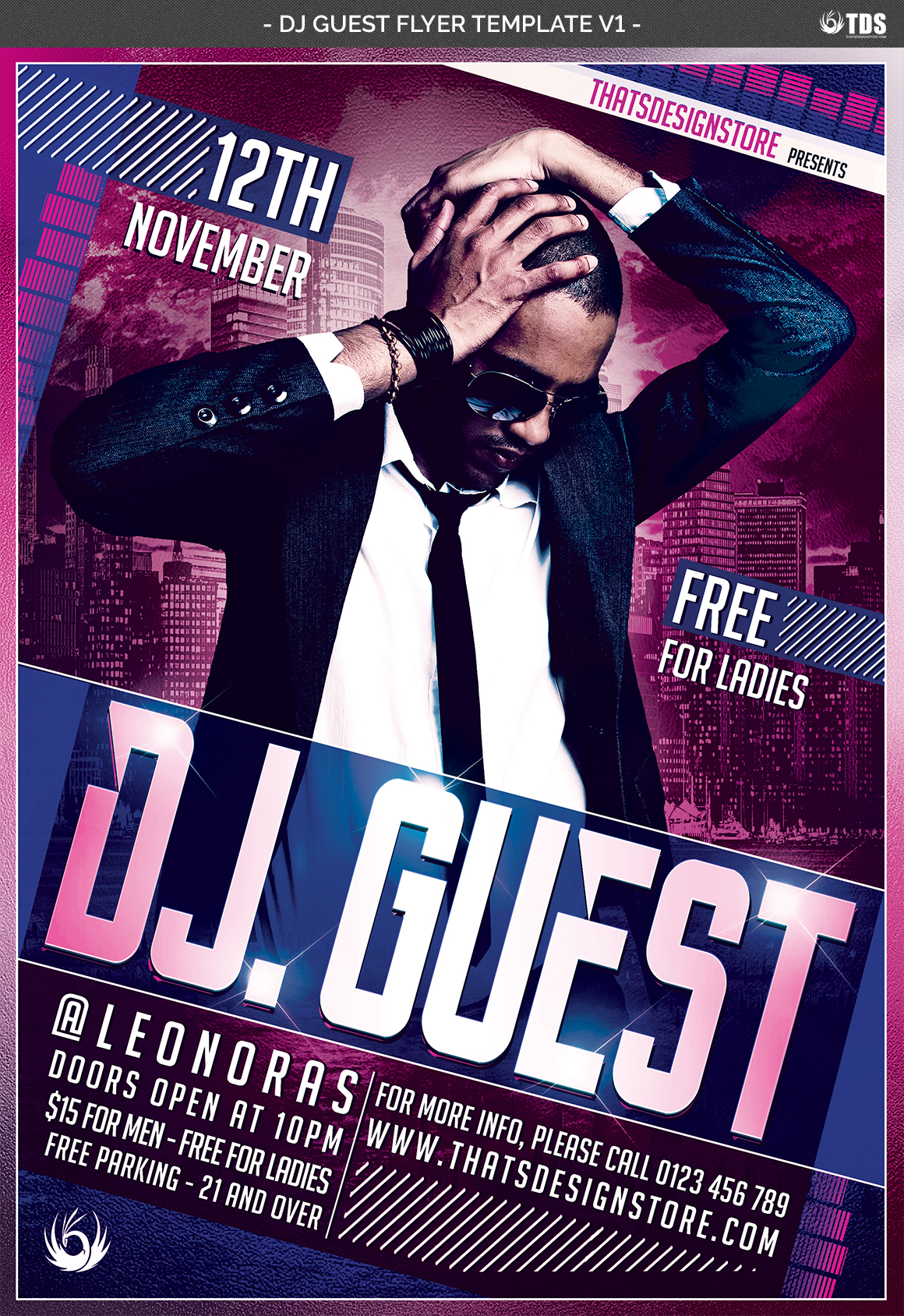 DJ Guest Flyer Template V1 example image 4
