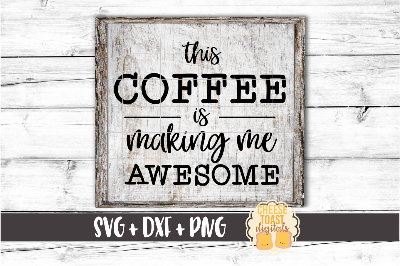 This Coffee Is Making Me Awesome - Coffee SVG PNG DXF Files example image 1