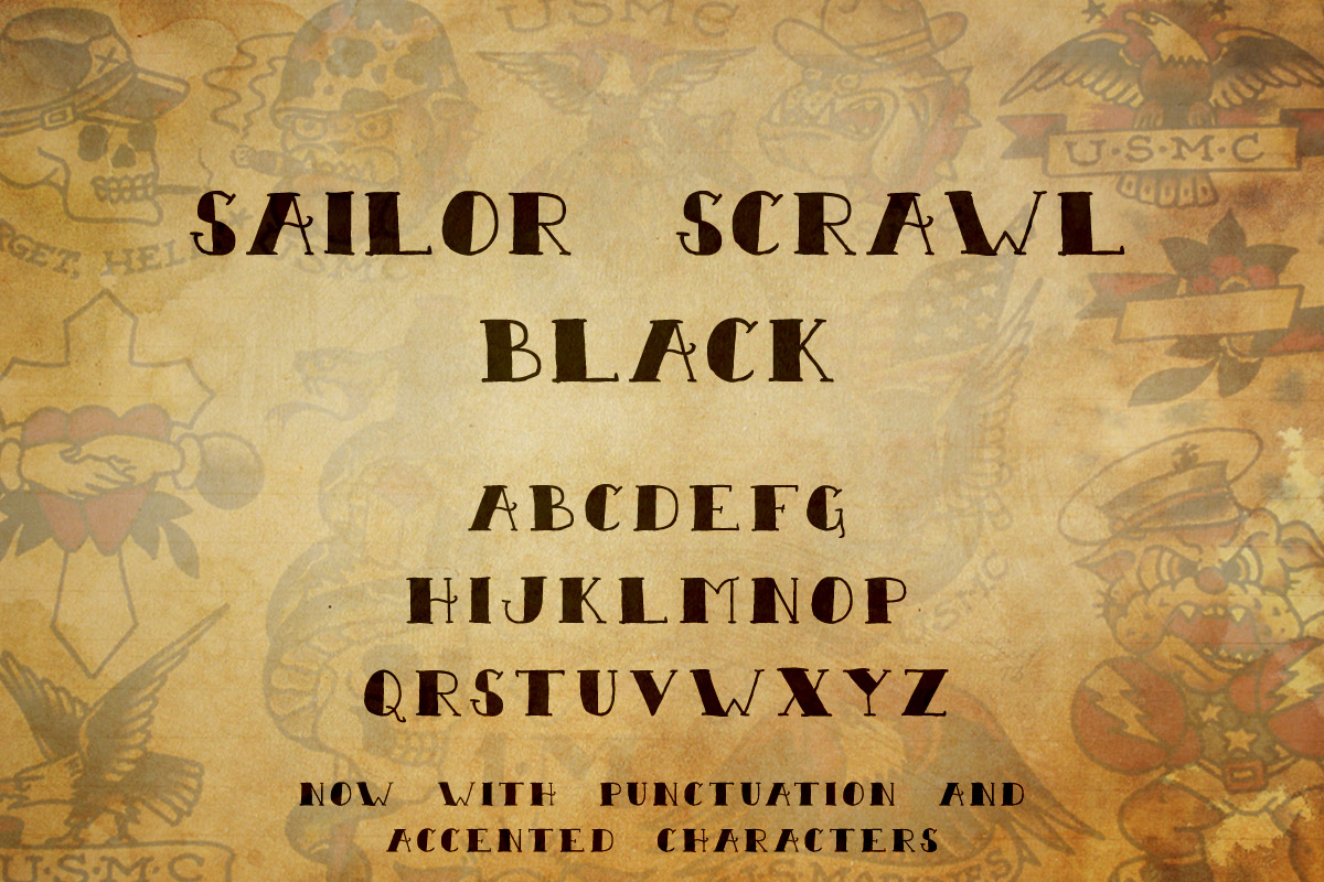 Tattoo Font Collection example image 2