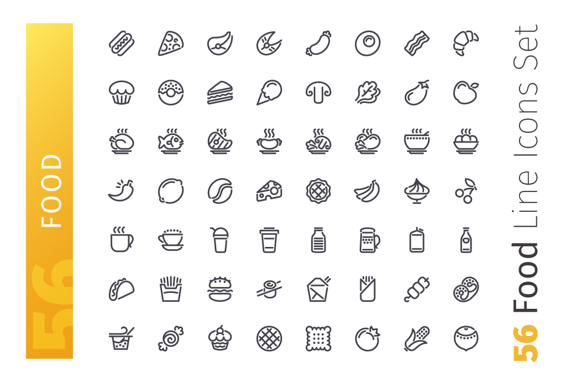 Food Line Icons Set example image 2