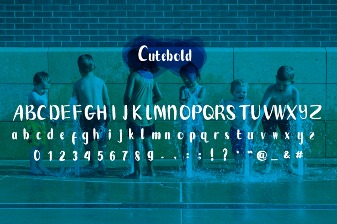 Cutebold - a display font example image 5