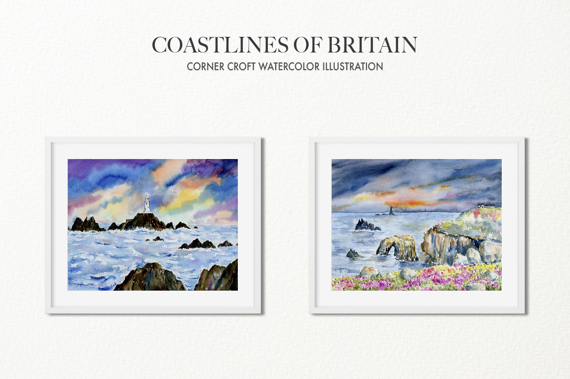 Watercolor Coast of Britain For Instant Download example image 7