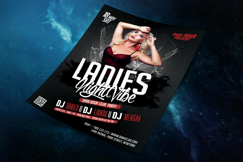 Ladies Night Vibe Club Template example image 5
