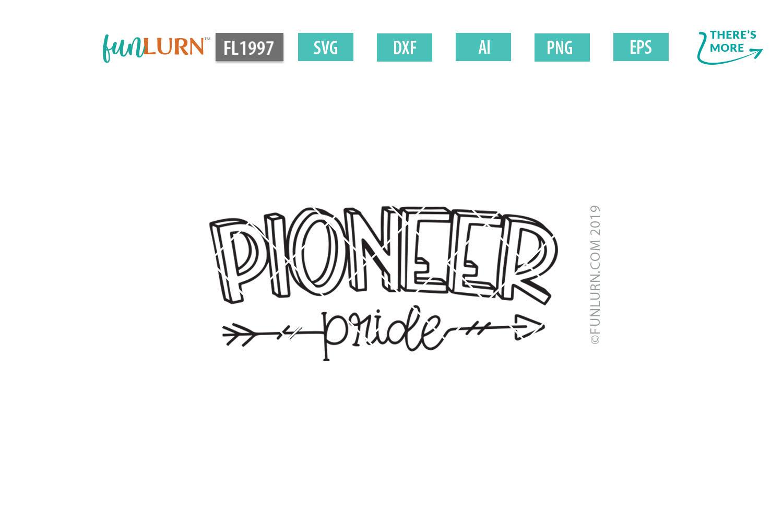 Pioneer Pride Team SVG Cut File example image 2