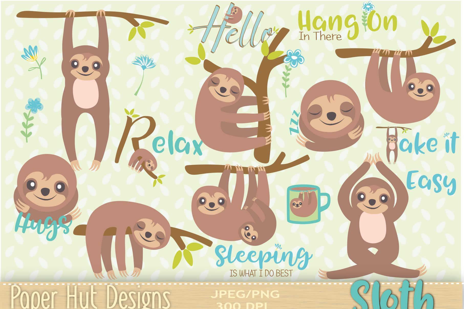 sloth Clipart example image 1