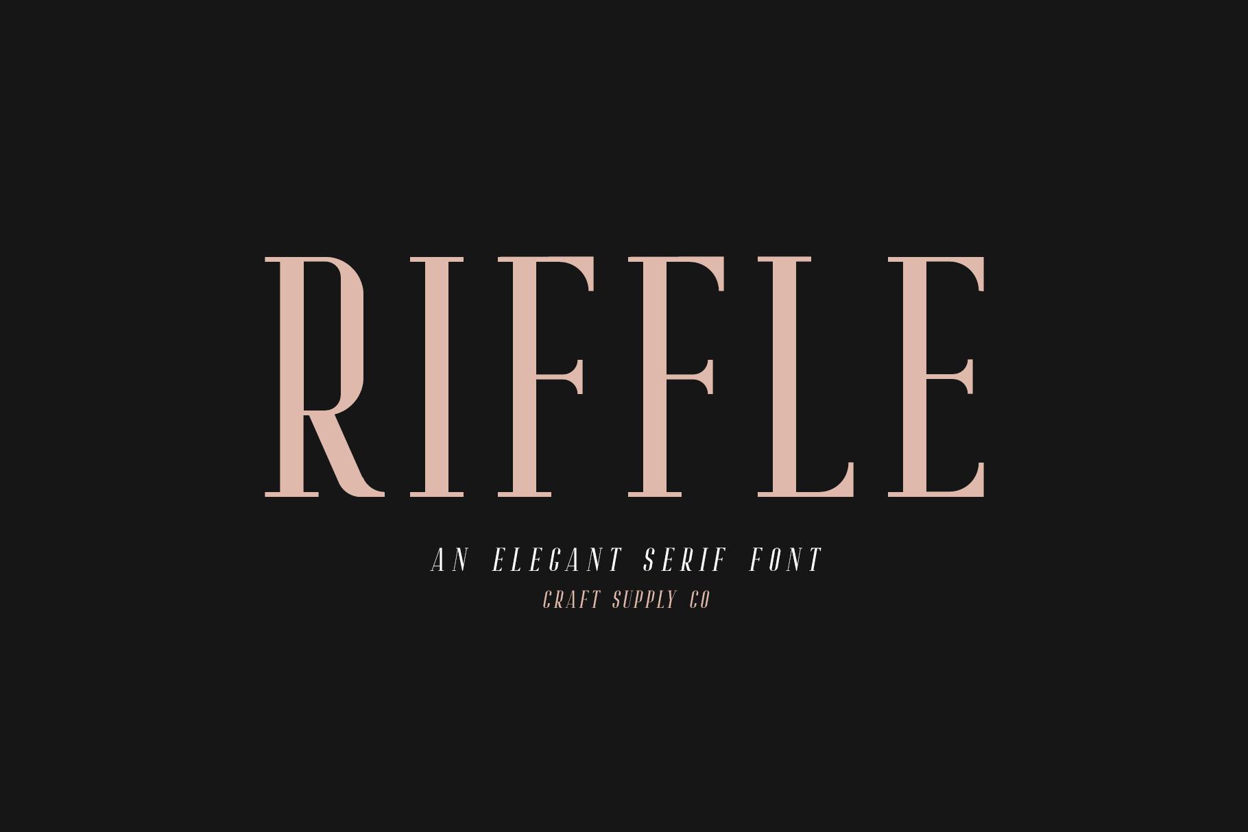 Riffle Font Family example image 2