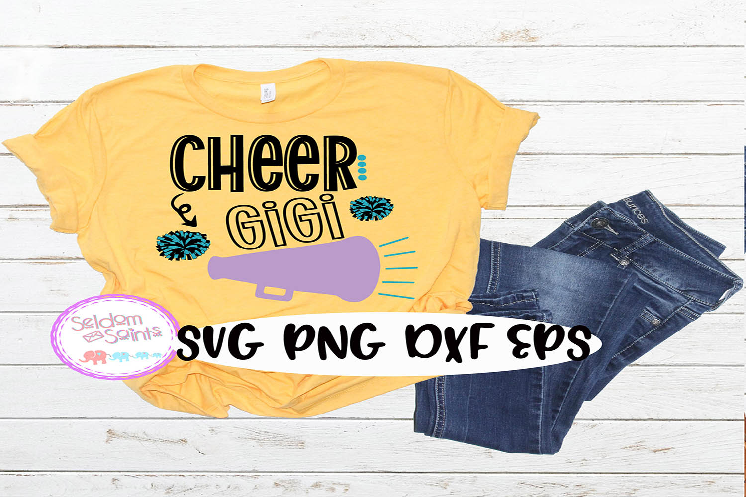 Cheer Gigi SVG PNG DXF EPS example image 1