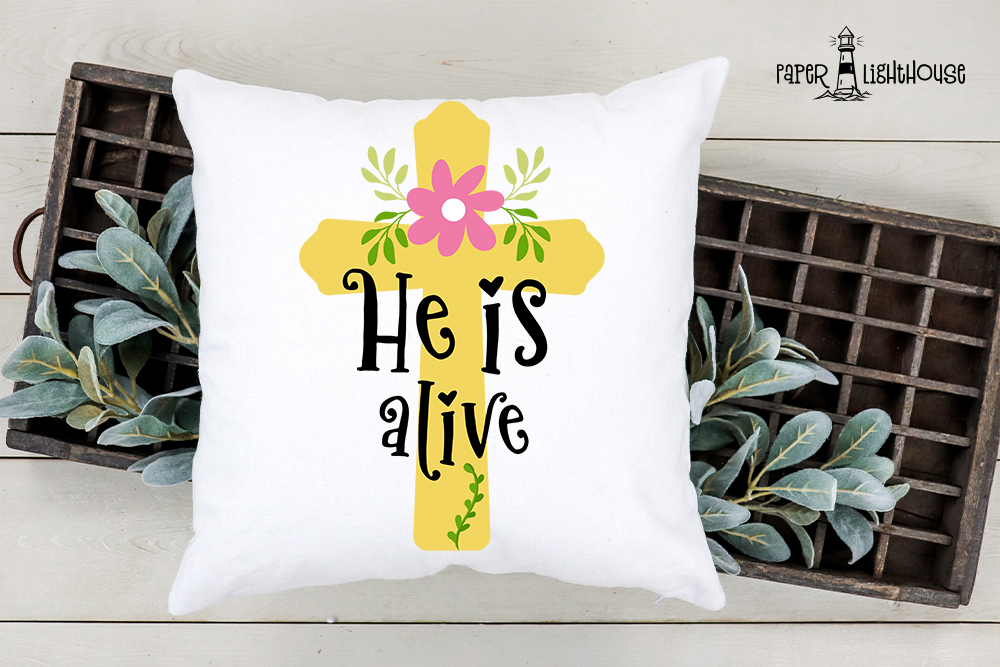 He is alive - Easter svg cut file, clipart, printable example image 2