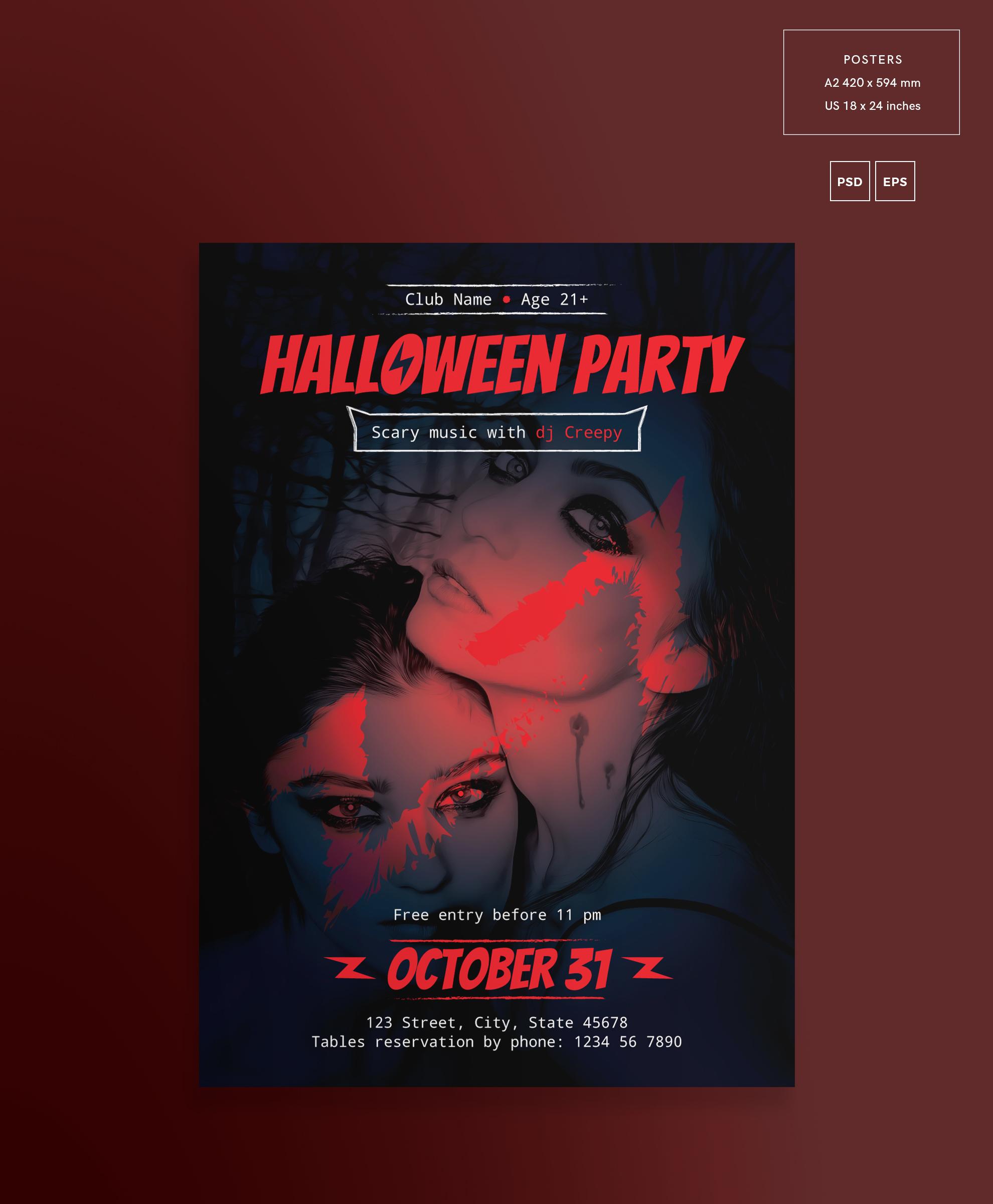 Halloween Party Design Templates Bundle example image 3