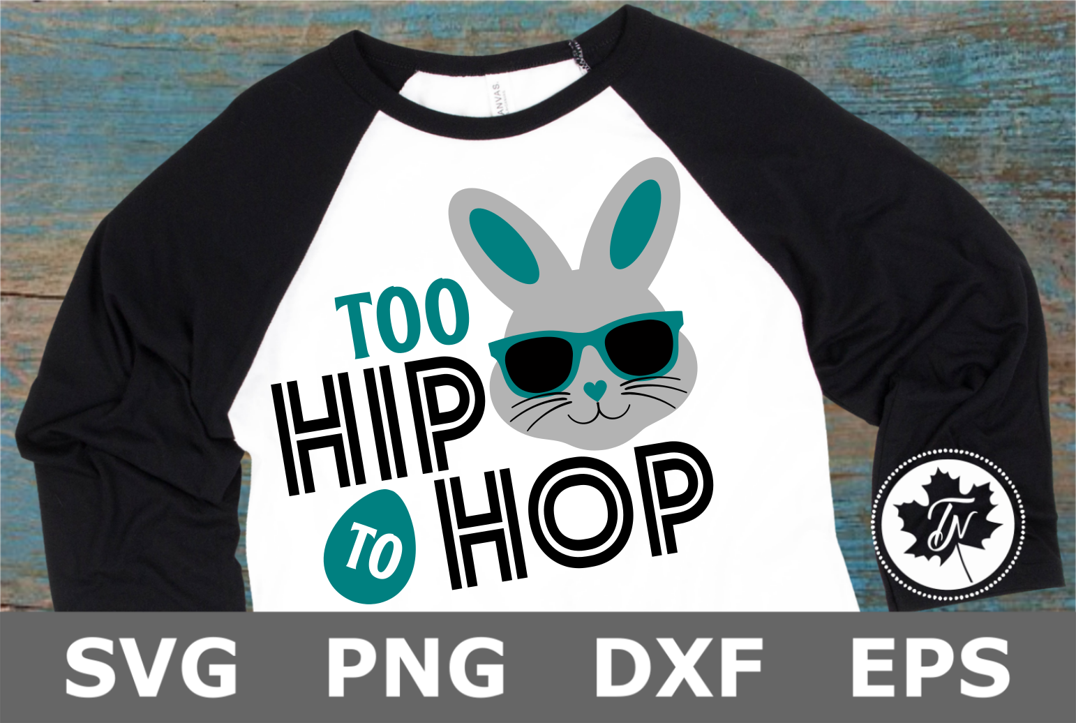 Too Hip to Hop - An Easter SVG Cut File example image 1