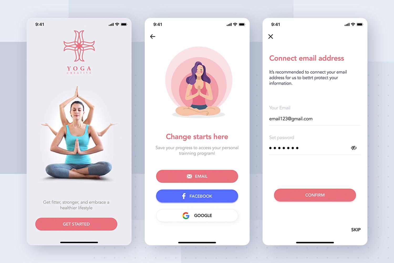 Yoga Fitness App UI Kit example image 6