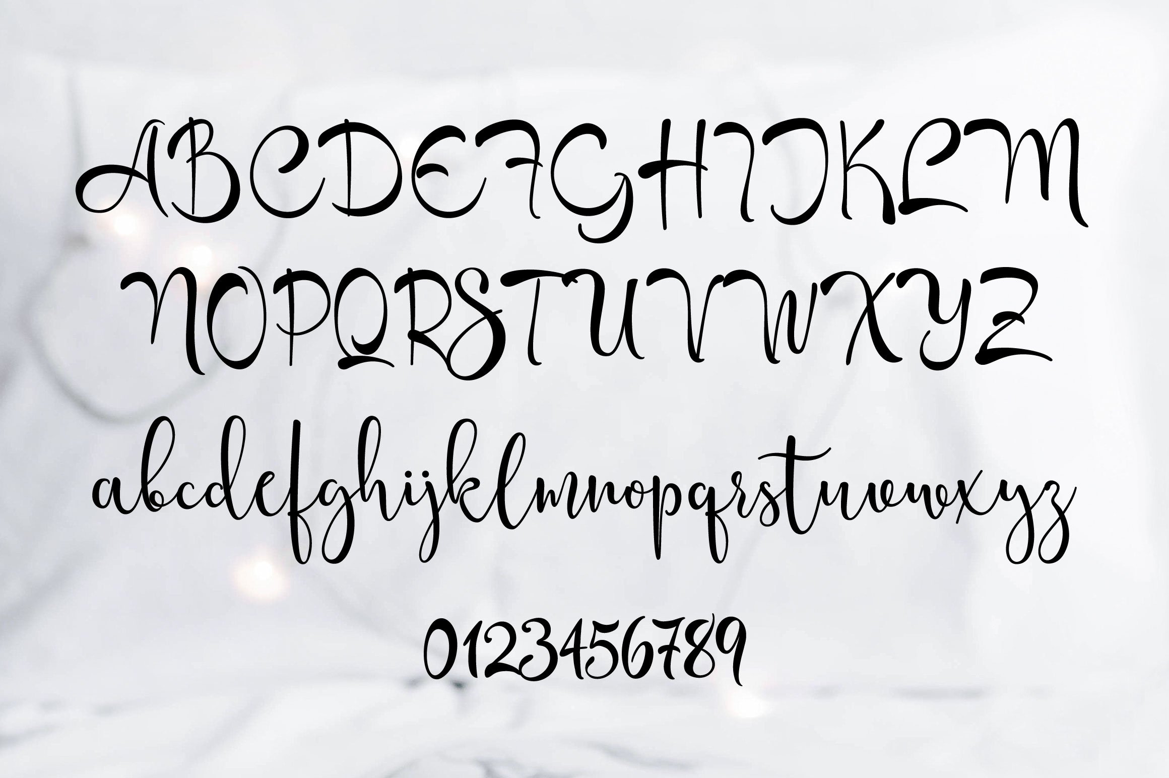 Catmint - handwritten calligraphy font example image 2