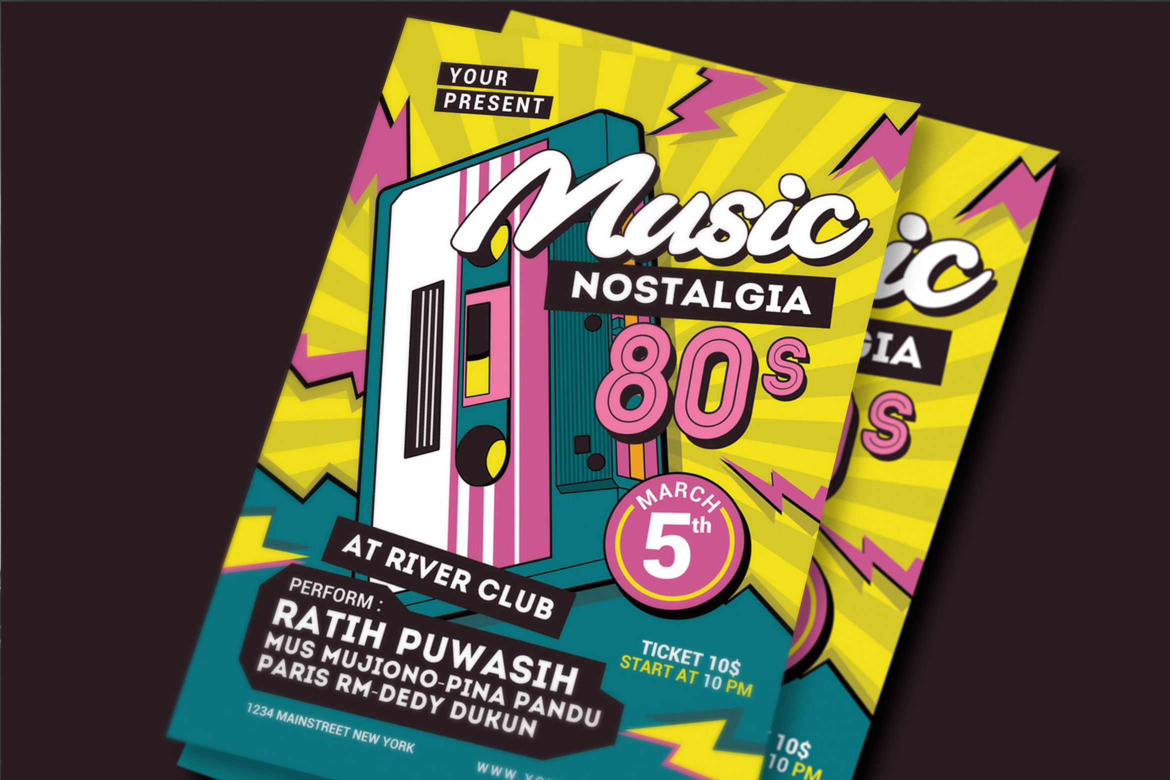 80's Music Event Flyer example image 1