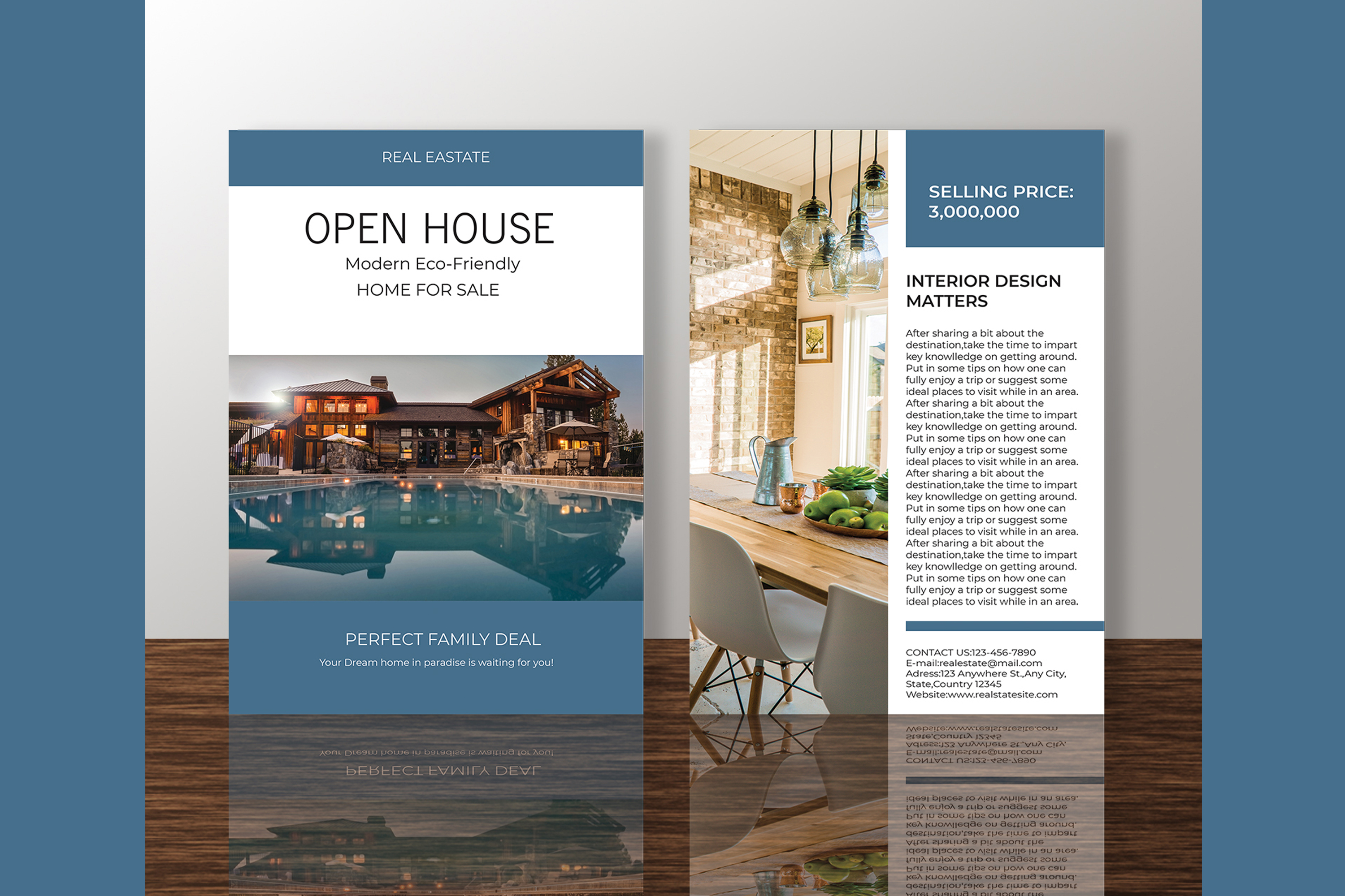 Professional Real Estate Flyer A4 - Printable Templates example image 11