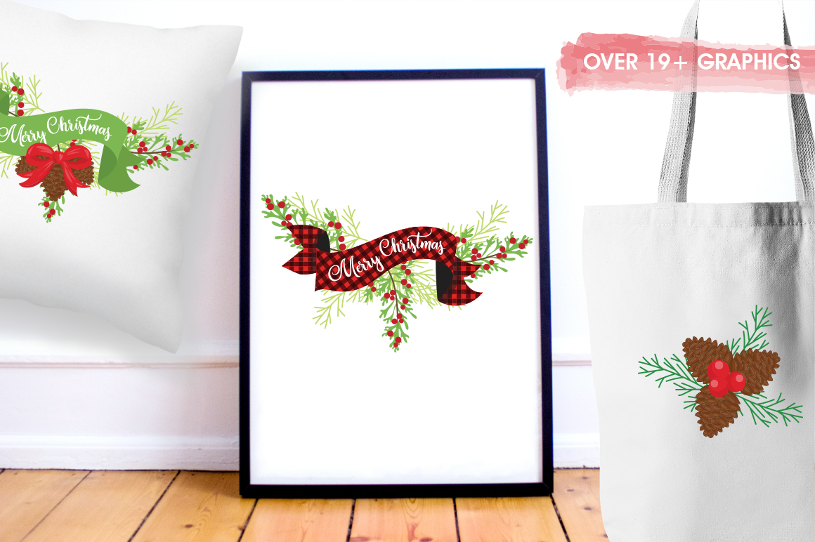 Merry Christmas graphic and illustrations example image 2