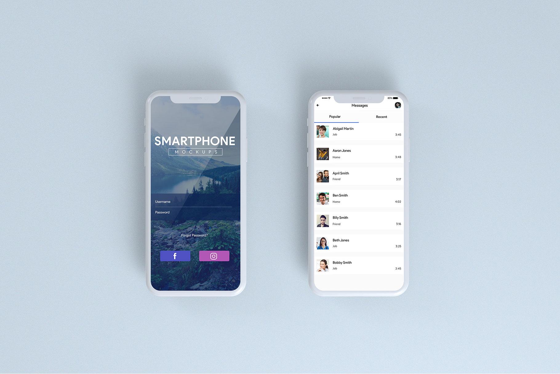 Smartphone Mock-Ups example image 4
