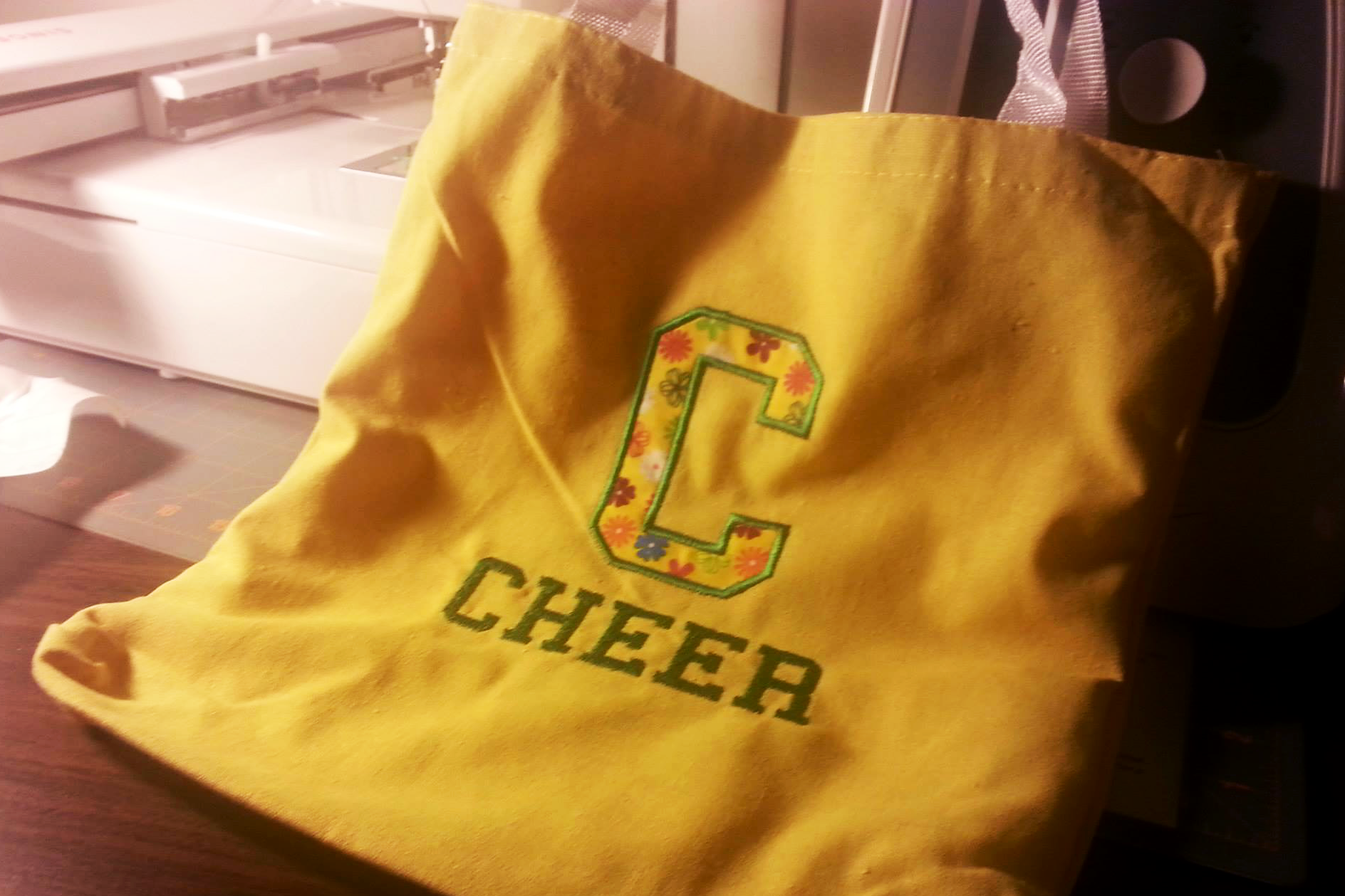 C for Cheer Applique Embroidery Design example image 2
