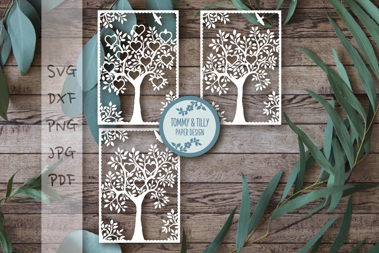 MEGA BUNDLE! Family Tree Cut Files - SVG | Papercut example image 6