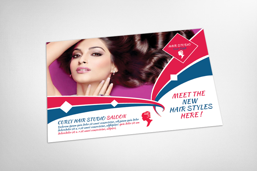 Hair Saloon Postcard Template example image 3