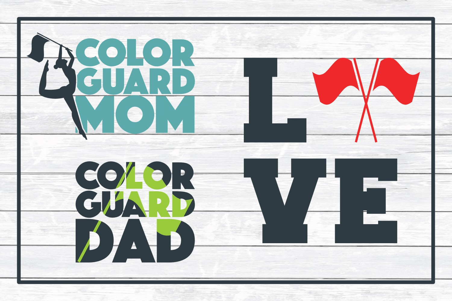 Color Guard SVG Design Bundle, Cut Files for Crafters example image 4