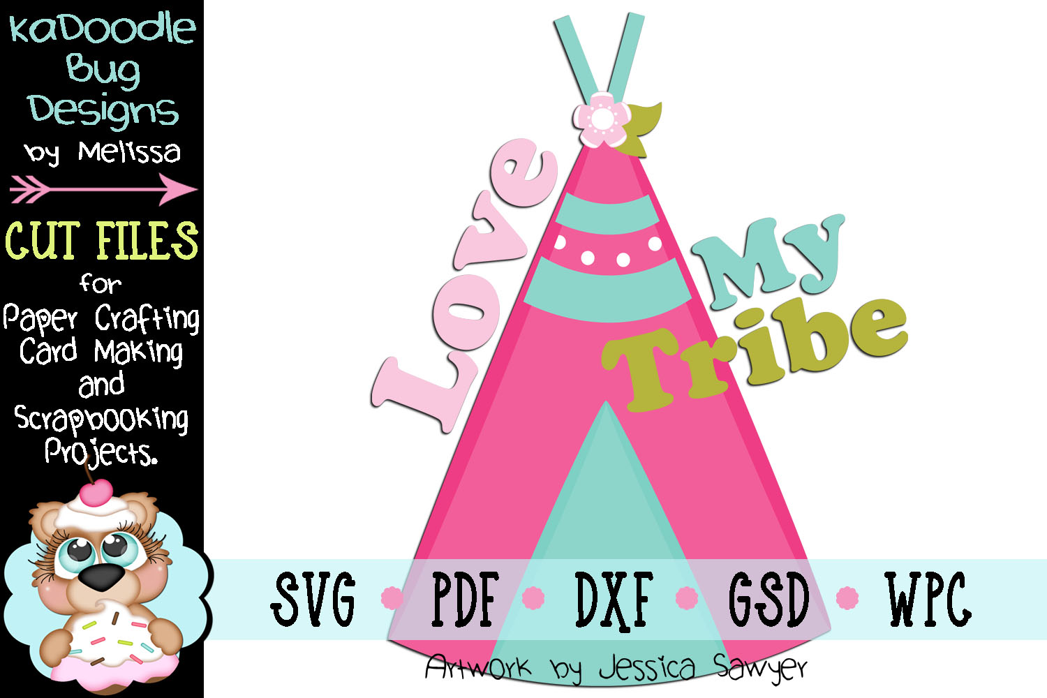 Love My Tribe Cut File - SVG PDF DXF GSD WPC example image 1