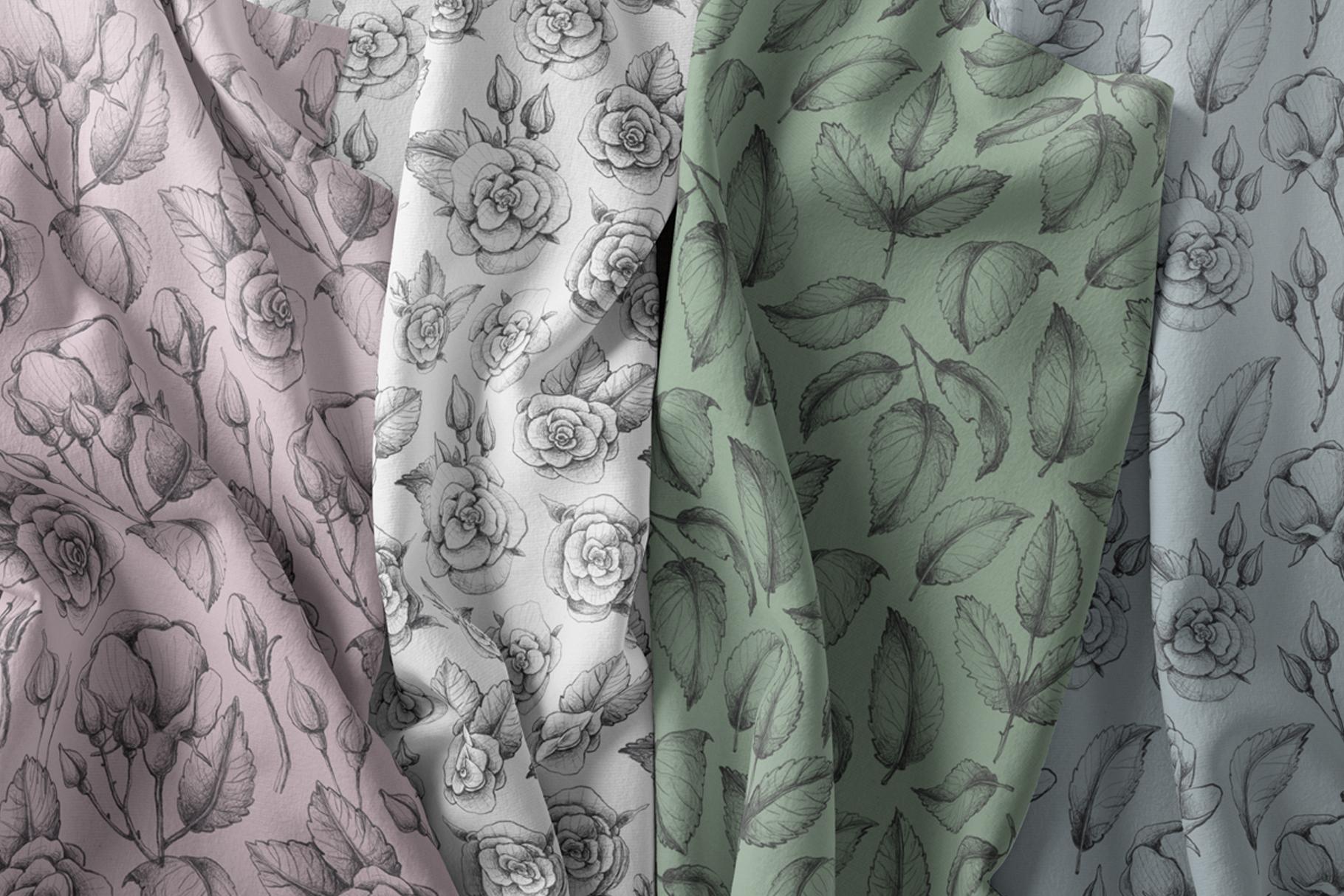 Sketched roses, patterns, frames example image 6