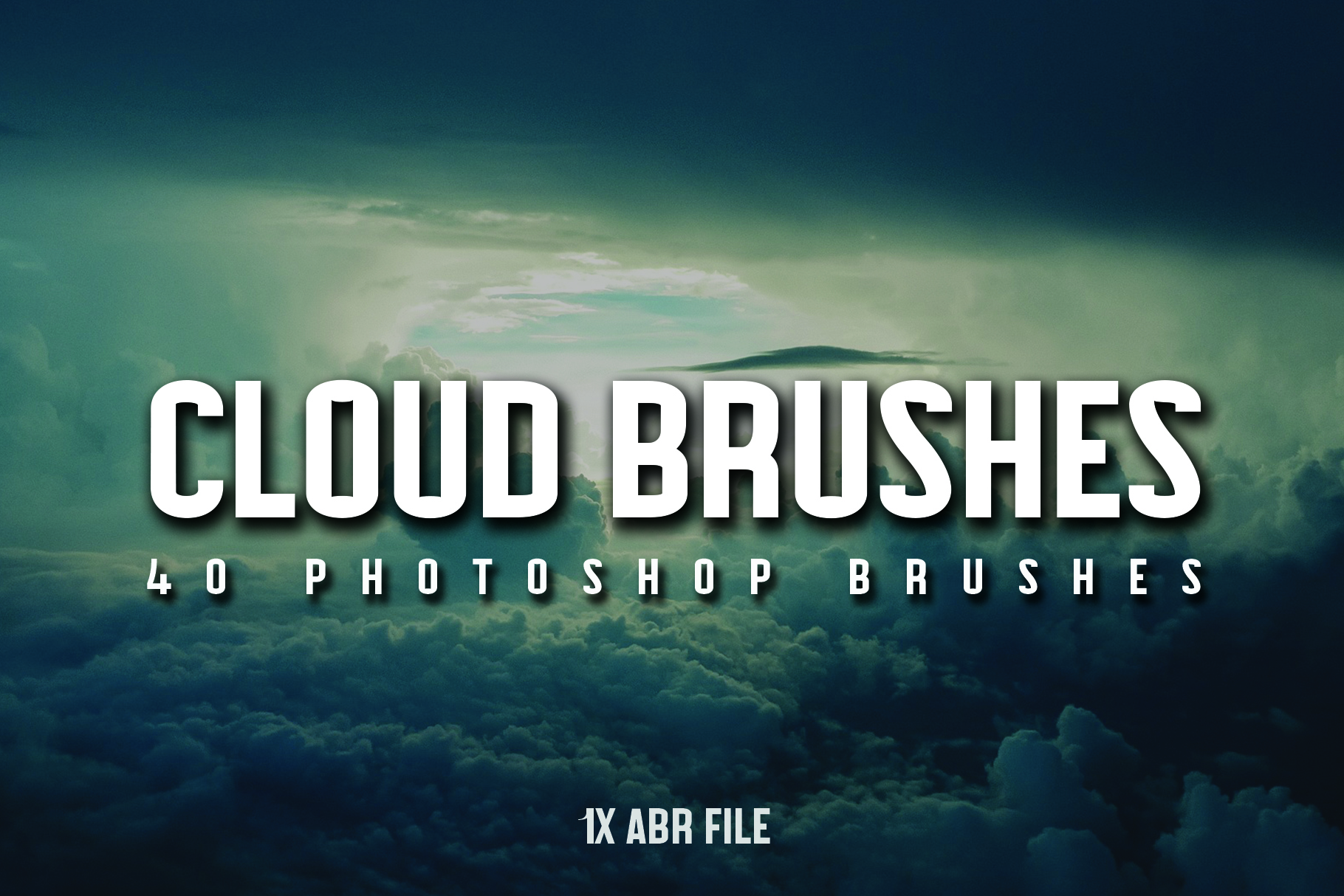 40 Cloud Brushes for Photoshop example image 1