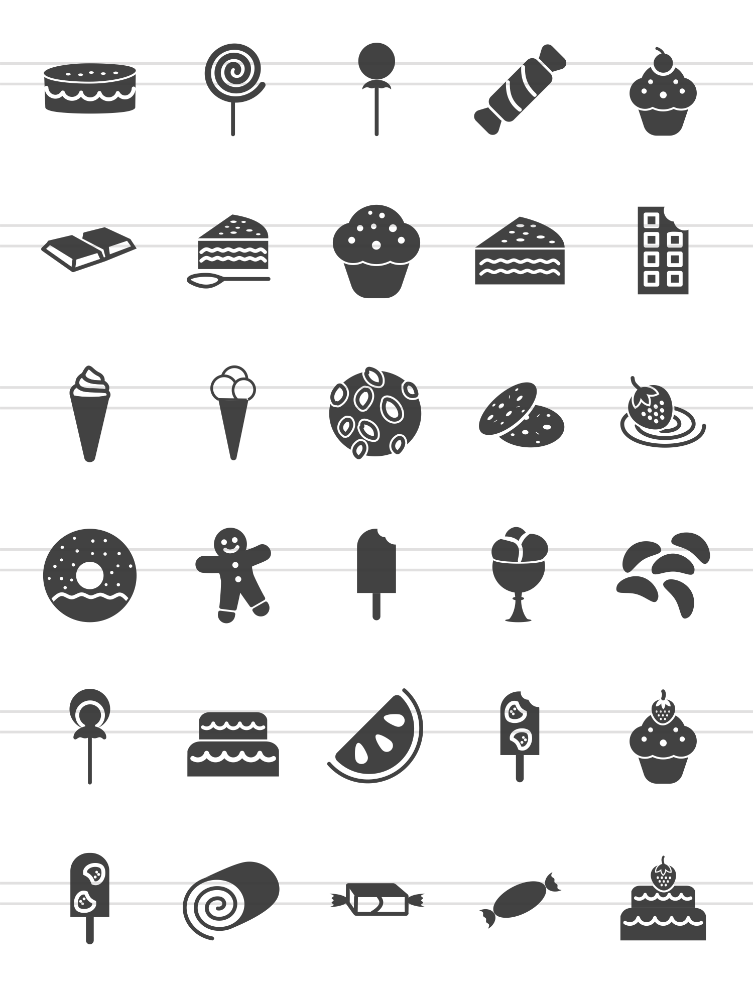 30 Sweets & Confectionery Glyph Icons example image 2