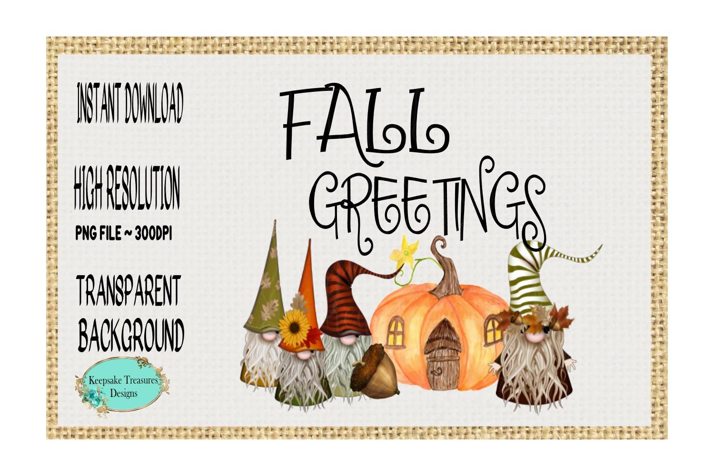 Fall Greetings, Gnomes example image 1