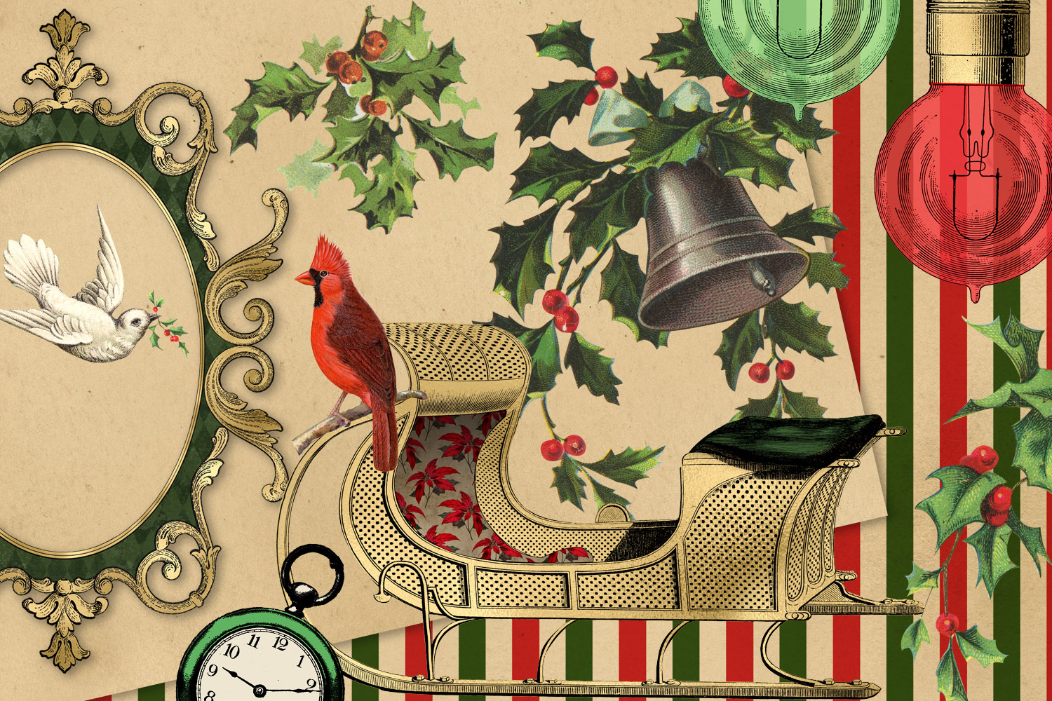 Christmas Alice In Wonderland Clipart example image 4