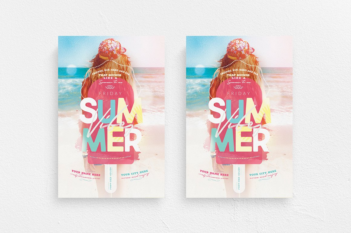 Summer Vibes Flyer Template example image 1