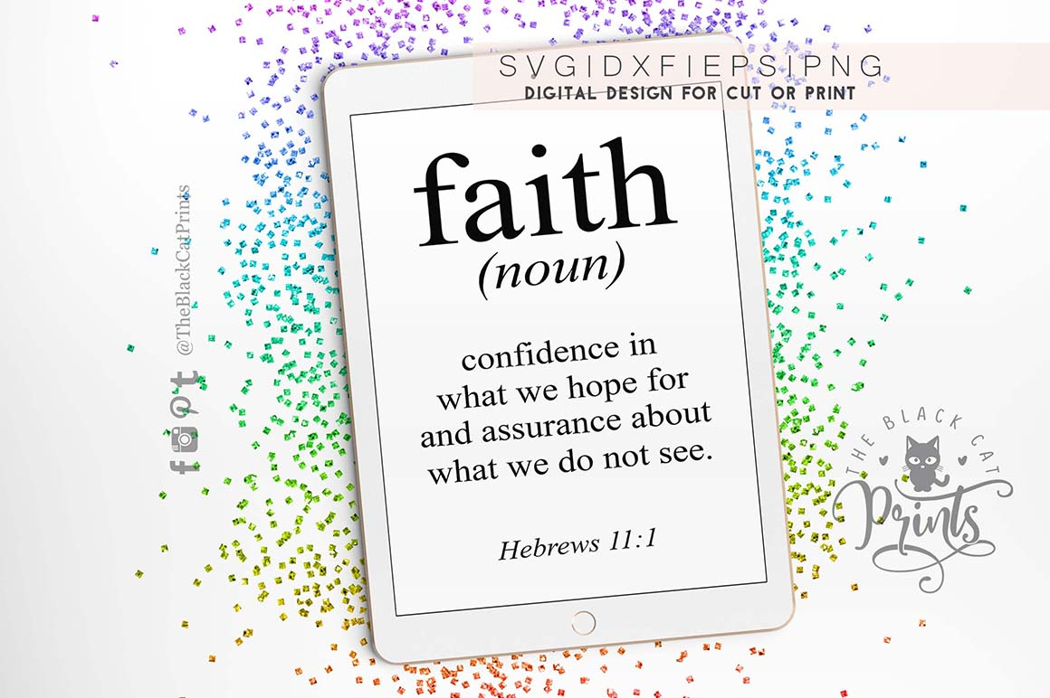 Bible verse - Faith definition SVG PNG EPS DXF Hebrews 11 1 example image 2