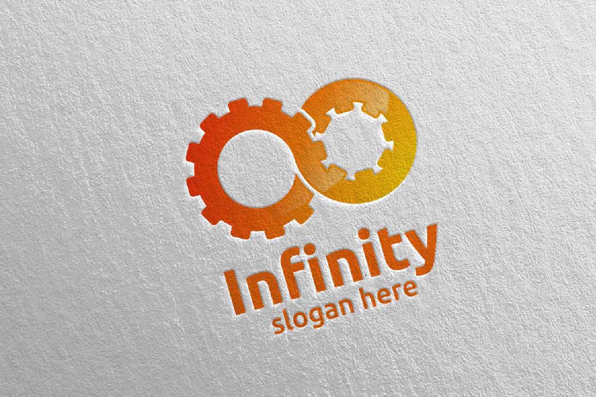 Infinity loop logo Design 9 example image 3