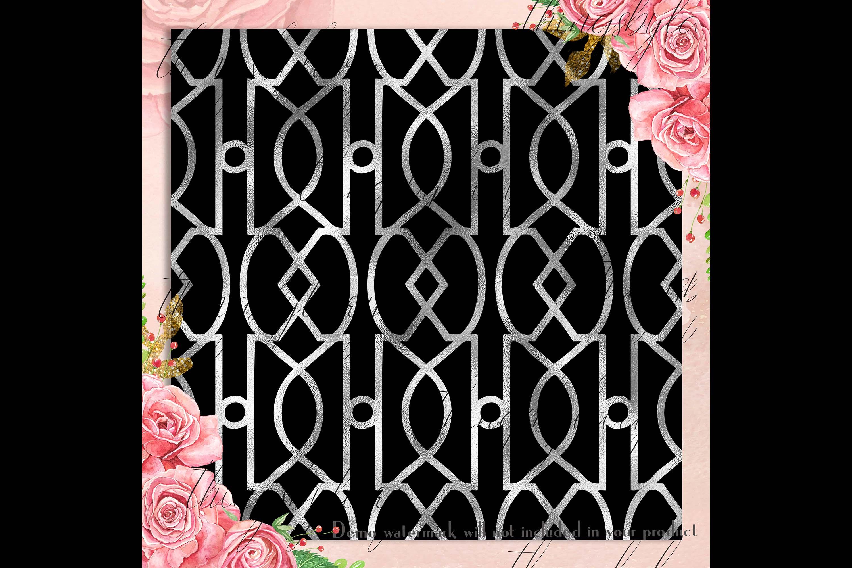 30 Seamless Black Silver Foil Basic Home Decor Print Pattern example image 2