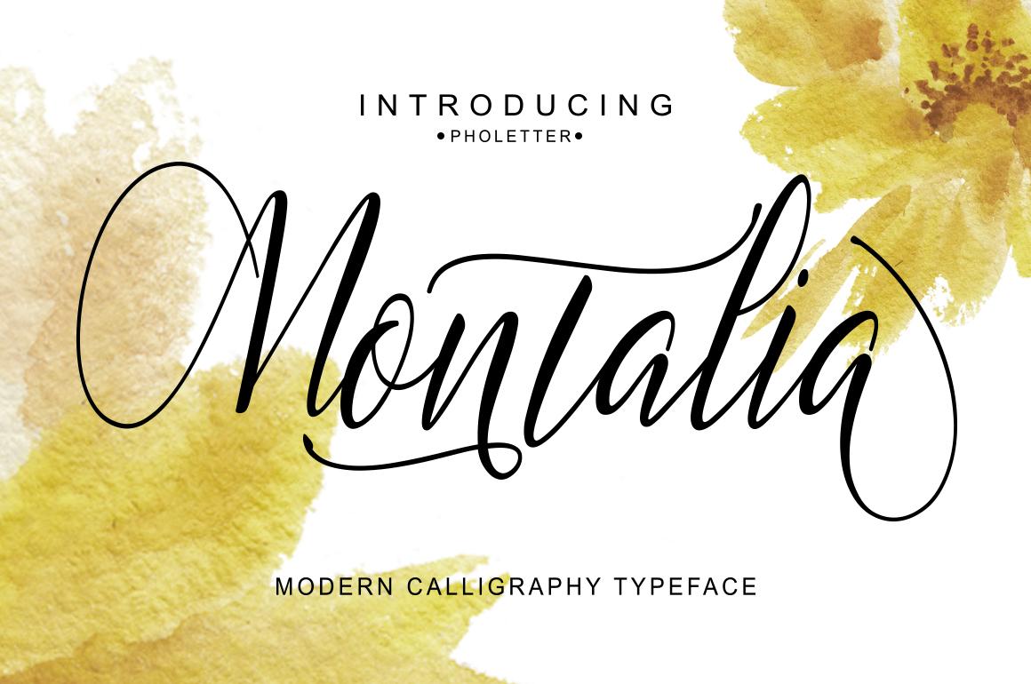 Montalia Script example image 6